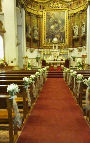 Decoración de iglesias para bodas 1