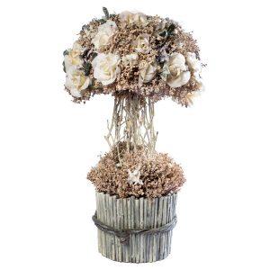 Centro flor seca en forma de árbol