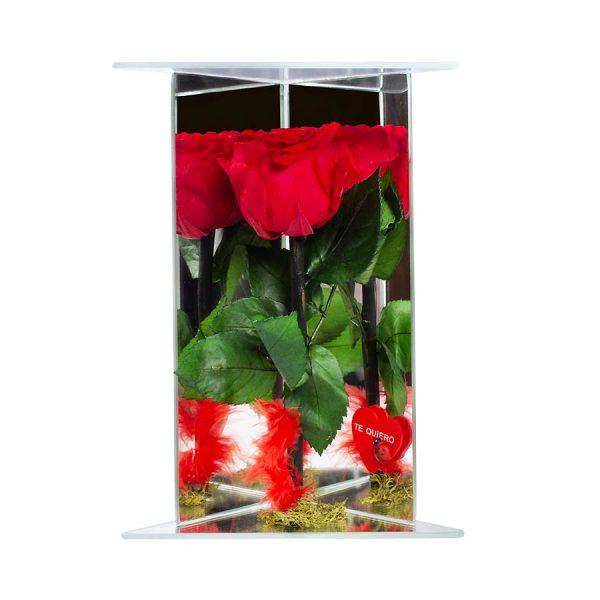 rosas-preservadas-cristal-triangular