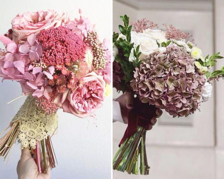 Ramo novia flores secas