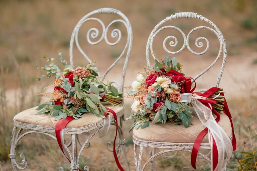 ramos de flores preservadas para novia